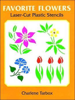 Favorite Flowers Laser Cut Plastic Stencils