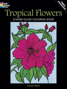 Tropical Flowers Stained Glass