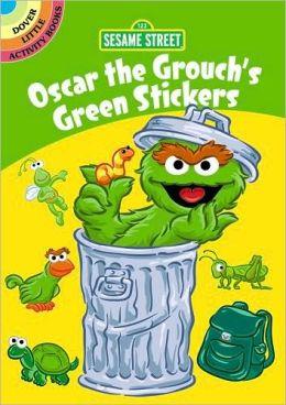 Sesame Street Oscar the Grouch's Green Stickers