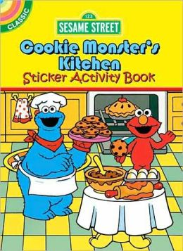 Sesame Street Classic Cookie Monster's Kitchen Sticker Activity Book