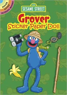 Sesame Street Grover Sticker Paper Doll