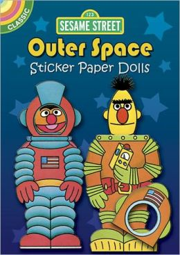 Sesame Street Classic Outer Space Sticker Paper Dolls