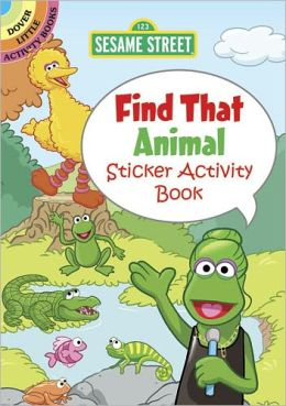 Sesame Street Find That Animal Sticker Activity Book
