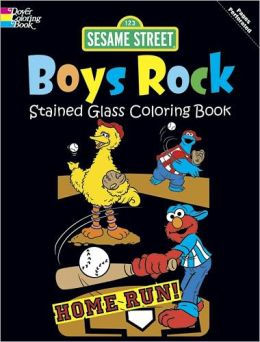 Sesame Street Boys Rock Stained Glass Coloring Book