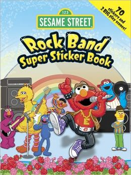 Sesame Street Rock Band Super Sticker Book
