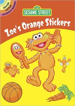 Sesame Street Zoe's Orange Stickers