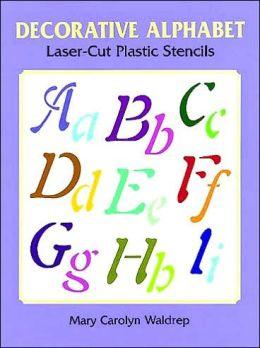 Decorative Alphabet Laser-Cut Plastic Stencils