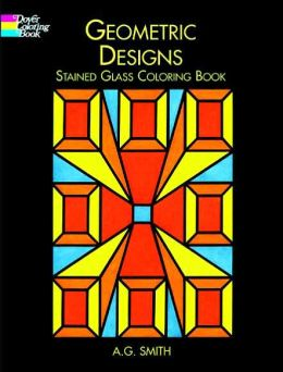 Geometric Designs Stained Glass Coloring Book