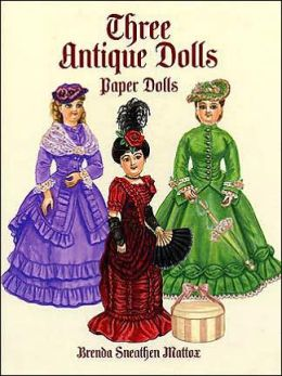 Three Antique Paper Dolls