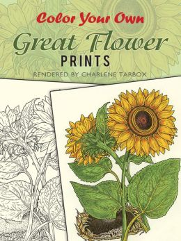 Color Your Own Great Flower Prints
