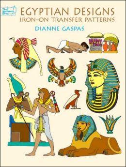 Egyptian Designs: Iron-on Transfer Patterns