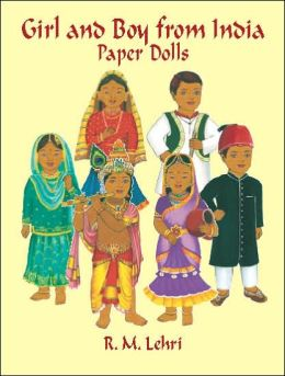 Girl and Boy from India Paper Dolls