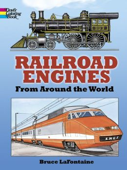 Railroad Engines Coloring Book