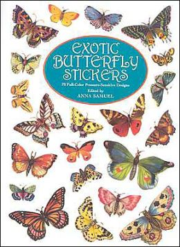 Exotic Butterfly Stickers