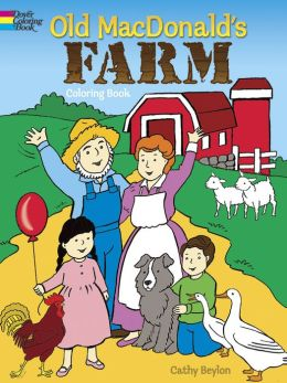 old macdonalds farm coloring book dover pictorial