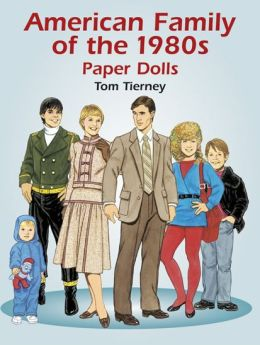 American Family of the 1980s Paper Dolls