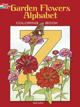 Garden Flowers Alphabet Coloring Book