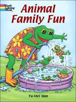 Animal Family Fun Coloring Book