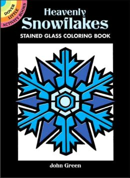 Heavenly Snowflakes Stained Glass Coloring Book