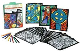 Celtic Design Stained Glass Coloring Kit