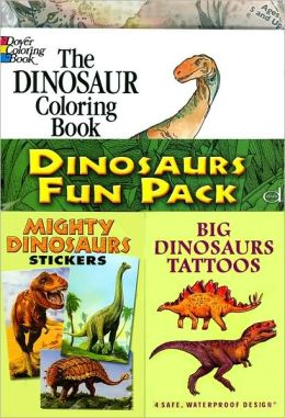 Dinosaurs Fun Pack: Coloring, Stickers, Tattoos