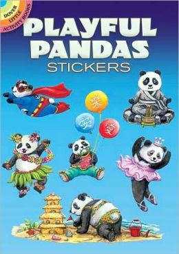 Playful Pandas Stickers