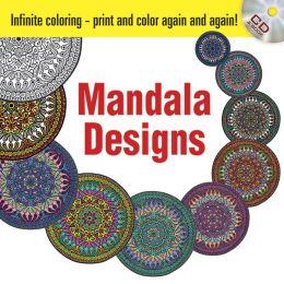 Infinite Coloring Mandala Designs Book & CD