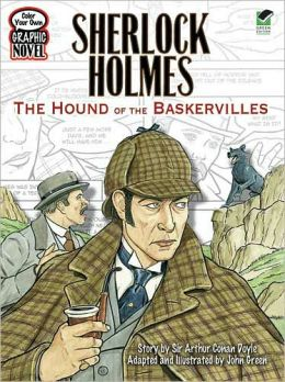 Color Your Own Graphic Novel SHERLOCK HOLMES: The Hound of the Baskervilles
