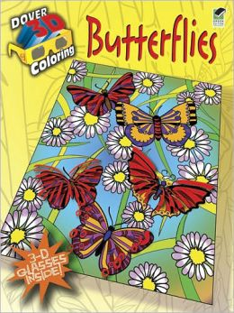 3-D Coloring Book--Butterflies