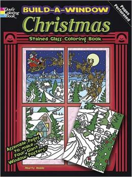 Build a Window Stained Glass Coloring Book--Christmas