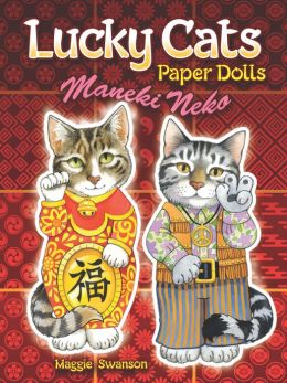Lucky Cats Paper Dolls: Maneki Neko