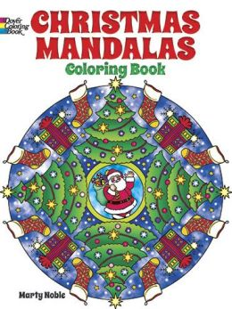 Christmas mandalas coloring book by marty noble Coloring book barnes and noble