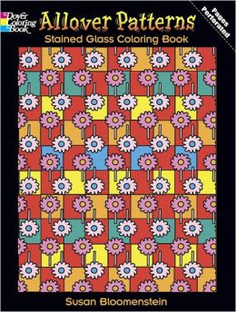 Allover Patterns Stained Glass Coloring Book