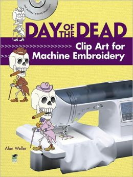Day of the Dead Clip Art for Machine Embroidery