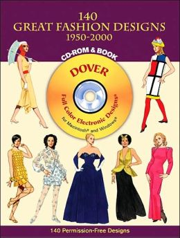 140 Great Fashion Designs, 1950–2000, CD-ROM and Book