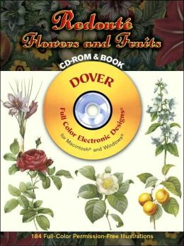 Redoute Flowers and Fruits CD-ROM and Book