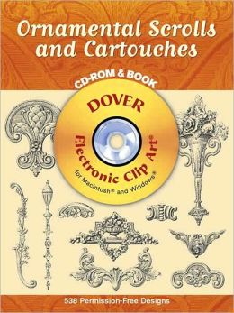 Ornamental Scrolls and Cartouches with CD-ROM