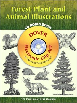 Forest Plant and Animal Illustrations (Dover Electronic Clip Art Series)