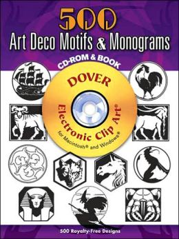 800 Art Deco Motifs and Monograms [Dover Electronic Clip Art Series]