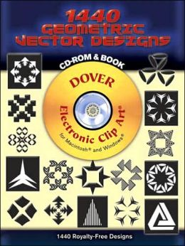 1440 Geometric Vector Designs: CD-ROM and Book