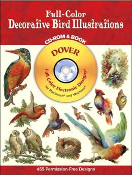 Full-Color Decorative Bird Illustrations CD-ROM and Book