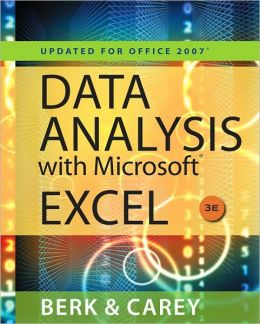 Data Analysis with Microsoft Excel: Updated for Office 2007