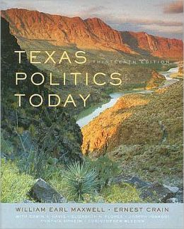 Texas Politics Today, 13th Edition