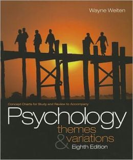 Concept Charts for Weiten's Psychology: Themes and Variations, 8th
