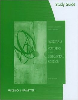 Study Guide for Gravetter/Wallnau's Essentials of Statistics for the Behavioral Science