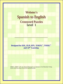 Webster's Spanish To English Crossword Puzzles: Level 1