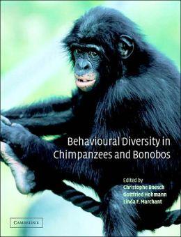 Behavioural Diversity in Chimpanzees and Bonobos