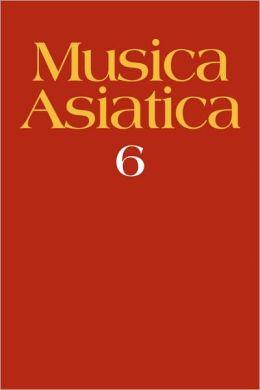 Musica Asiatica, Volume 6