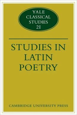 Studies in Latin Poetry