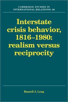 Interstate Crisis Behavior, 1816-1980
